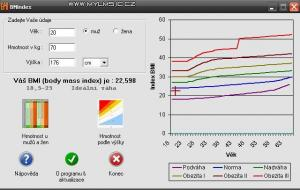 BMIndex 1.1 - náhled