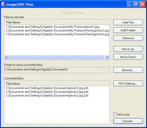 Image2PDF Pilot 2.16.95 - náhled