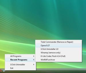 1Click Uninstaller 1.9 - náhled