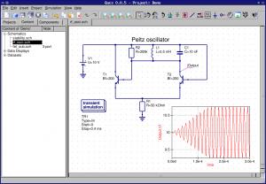 QUCS - Quite Universal Circuit Simulator 0.0.18 - náhled