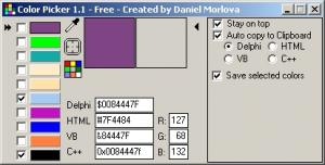 ColorPicker 1.2.1 - náhled