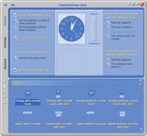Talking Desktop Clock - náhled