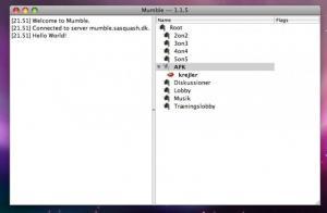 Mumble 1.3.0 - náhled