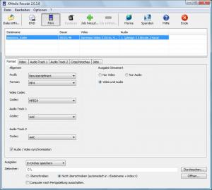 XMedia Recode Portable 3.4.4.3 - náhled