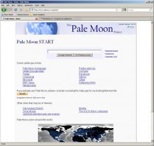 Pale Moon 27.3.0 - náhled