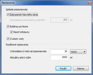 Pitný režim POHODA 1.1 - náhled