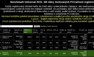 Benchmark Universal - náhled