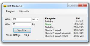 BMI Měrka 1.0 - náhled