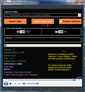 Redsystem Rádio Rekordér 1.0 - náhled