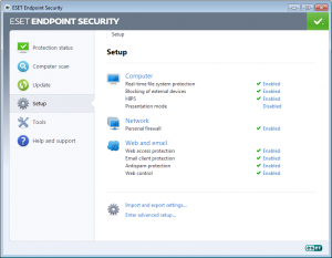ESET Endpoint Security 5.0.2126.11 - náhled