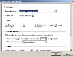Language Echolot 1.0.0 - náhled