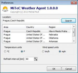 MiTeC Weather Agent 2.0 - náhled