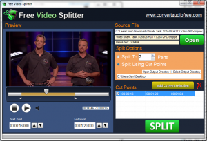Free Video Splitter 1.0 - náhled