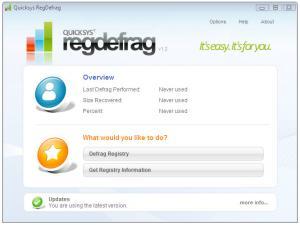 Quicksys RegDefrag Portable 2.7 - náhled
