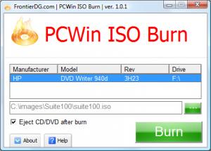 PCWin ISO Burn 1.1.0 - náhled