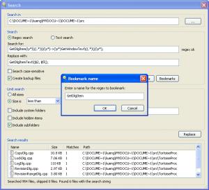 grepWin 1.7.2 - náhled