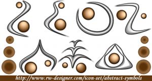 Abstraktní symboly - náhled