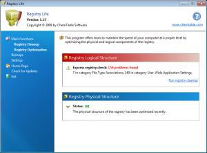Registry Life 3.39 - náhled