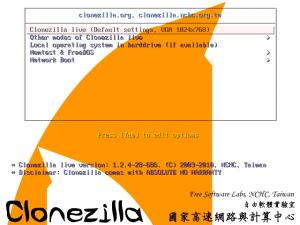 Clonezilla 2.4.5-23 - náhled