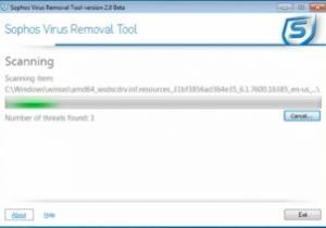 Sophos Virus Removal Tool 2.5 - náhled