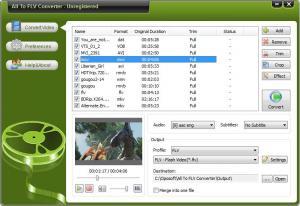 All To FLV Converter 8.7 - náhled