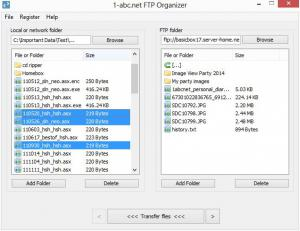 1-abc.net FTP Organizer 2.00 - náhled