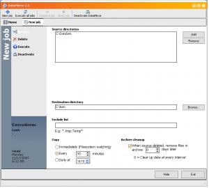 DataMirror 2.5 - náhled