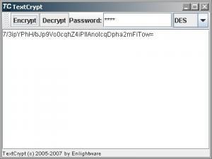 TextCrypt - náhled