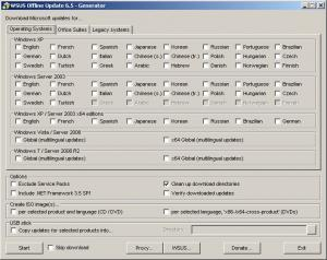 WSUS Offline Update 10.9.1 - náhled