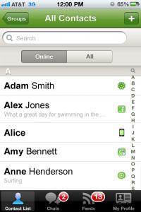 ICQ Mobile V3 - náhled