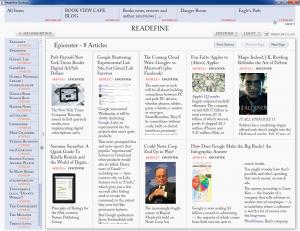 Readefine Desktop 2.49 - náhled
