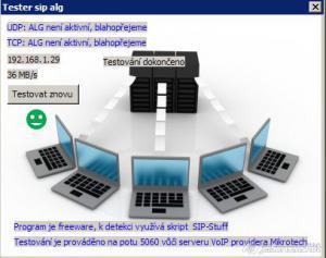 SIP ALG tester 1.2 - náhled