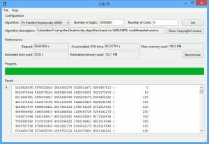 CalcPi 14 - náhled
