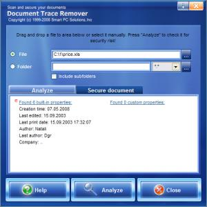 Document Trace Remover 3.6 - náhled