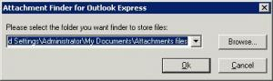 Attachment Finder for Outlook Express - náhled