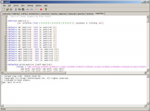 LispIDE 0.9 - náhled