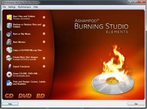 Ashampoo  Burning Studio Elements 10.0.9 - náhled