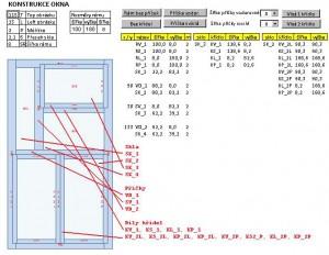 Konstrukce oken - náhled