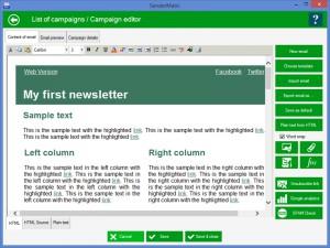 SenderMatic emailer - náhled
