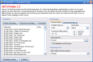 Id3ToFolder 3.0 - náhled