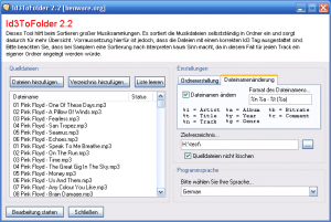 Id3ToFolder 2.21 - náhled