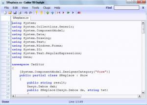Caditor 3.2.2 - náhled