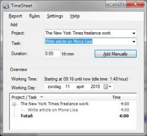 TimeSheet 1.4.8 - náhled