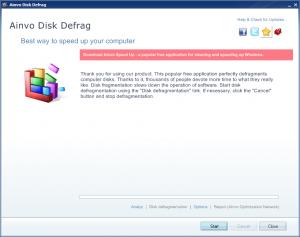Ainvo Disk Defrag 2.4.1.470 - náhled
