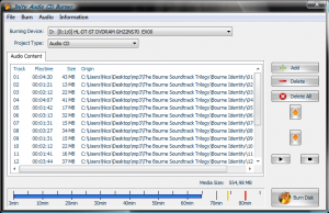 3nity Audio CD BURNER 3.1 - náhled