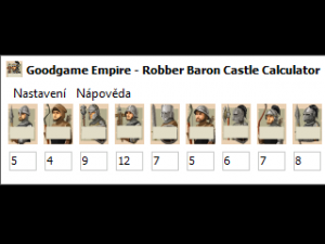 Goodgame Empire - Robber Baron Castle Calculator 1.0 - náhled