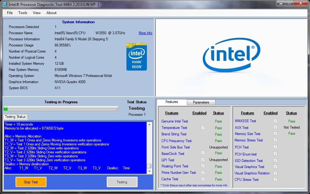processor diagnostic tool