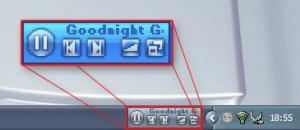 Winamp Controlband 1.2.1 - náhled