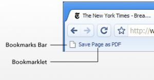 Save Page as PDF - náhled