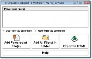 MS PowerPoint Export To Multiple HTML 7.0 - náhled